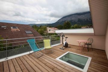 Toit terrasse bois (Crédit Photo : Pascale Rousseau)