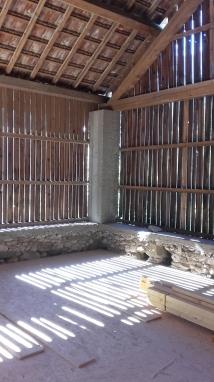 Grange existante en chantier